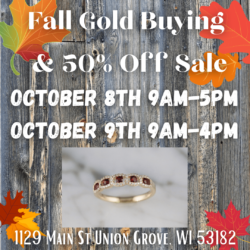 Fall Gold Buying Event & 50% Off Sale